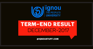 Ignou result for December 2017 Exam